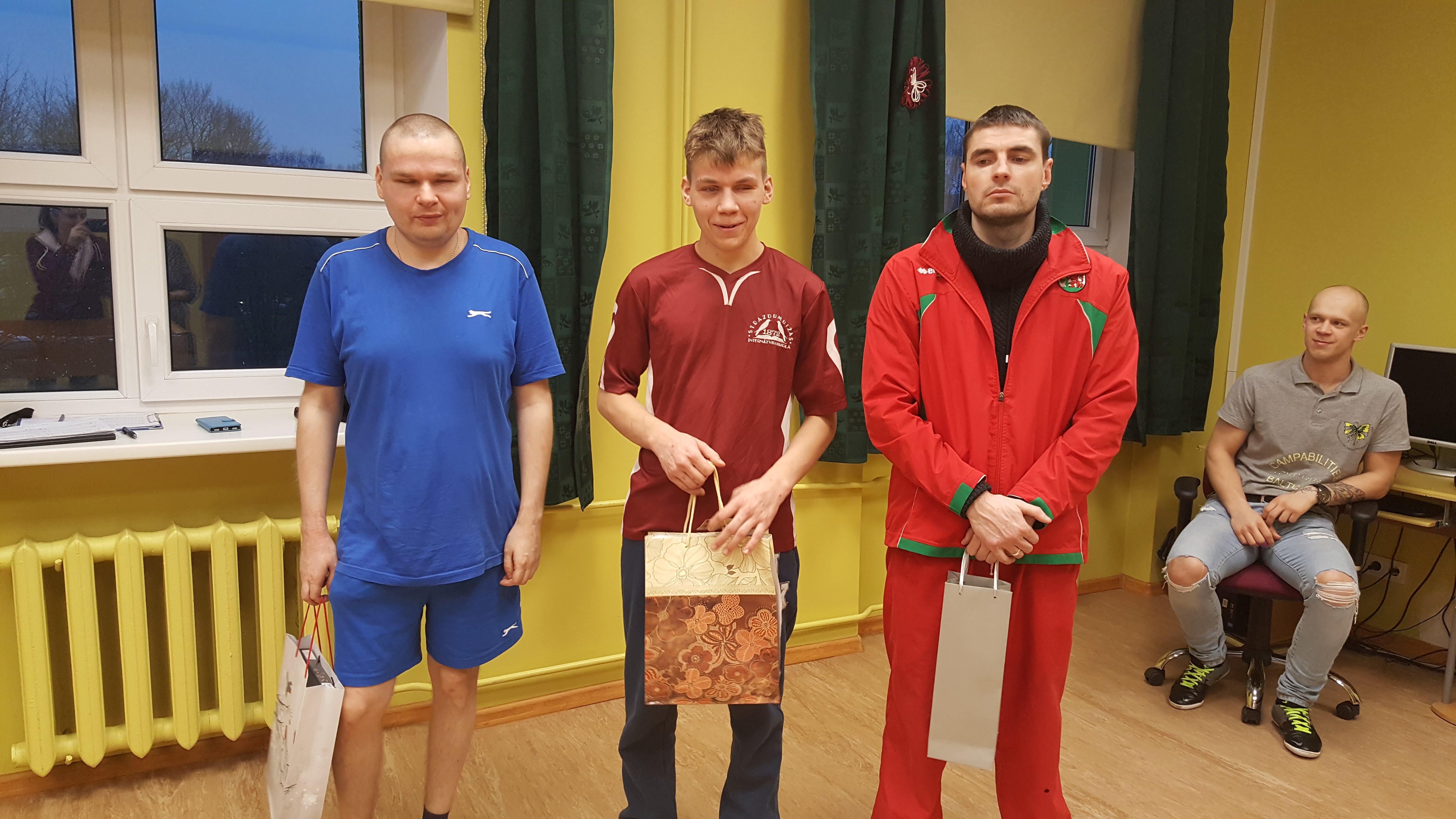 Strazdumuižas internātvidusskolā turnīrs Šaudounā. Pirmajā vietā Deniss Ovsjaņņikovs.