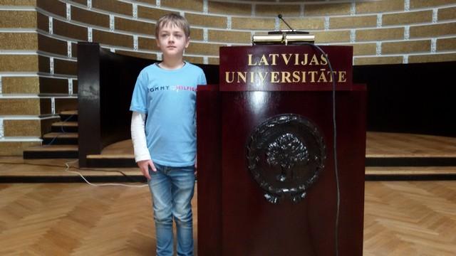 Renāts Universitātes lielajā aulā