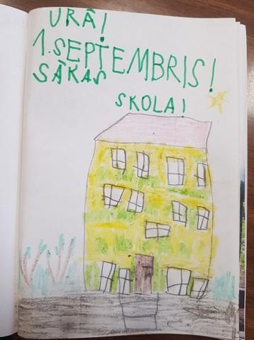 Vladislava zīmējums - pirmais septembris, sākas skola